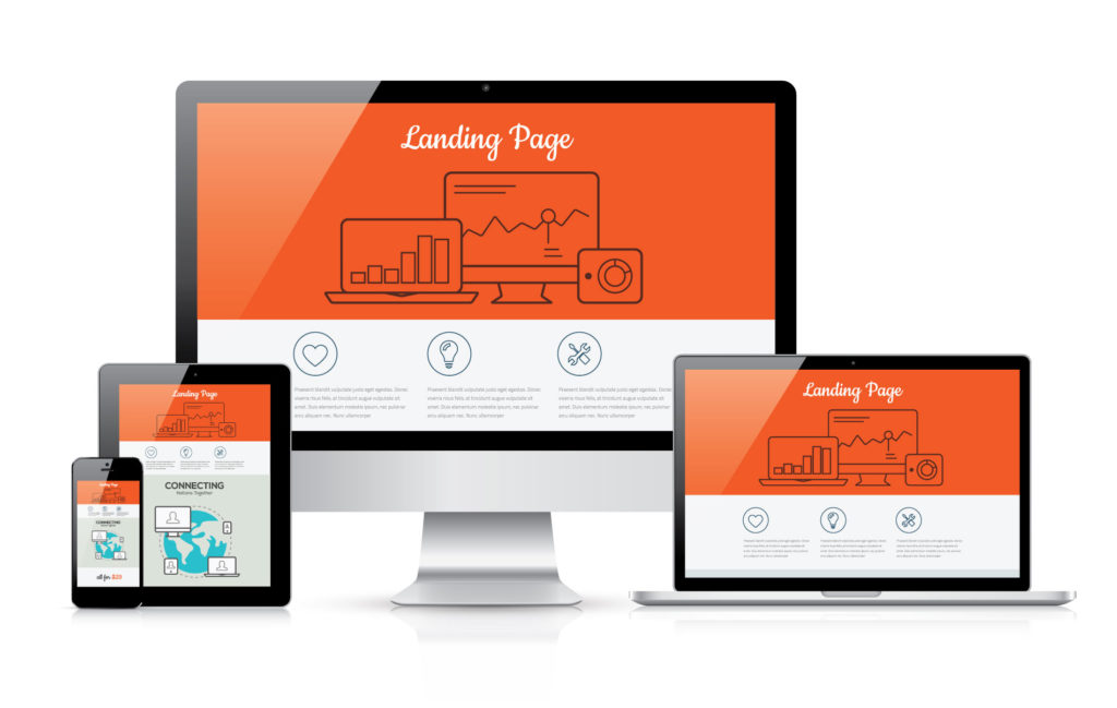 Landing Pages on Different Sized Screens