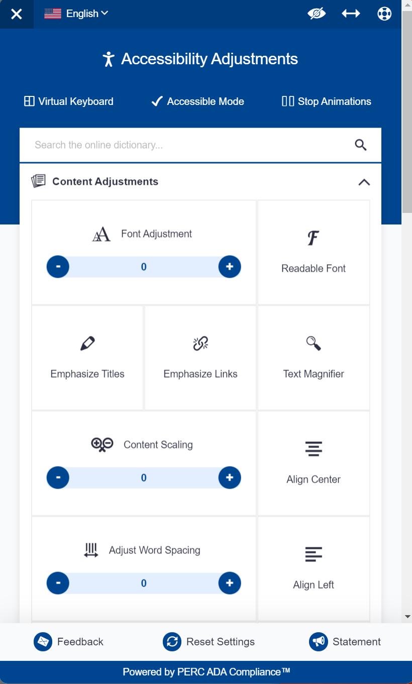 PERC ADA Compliance™ Plugin Screen Shot
