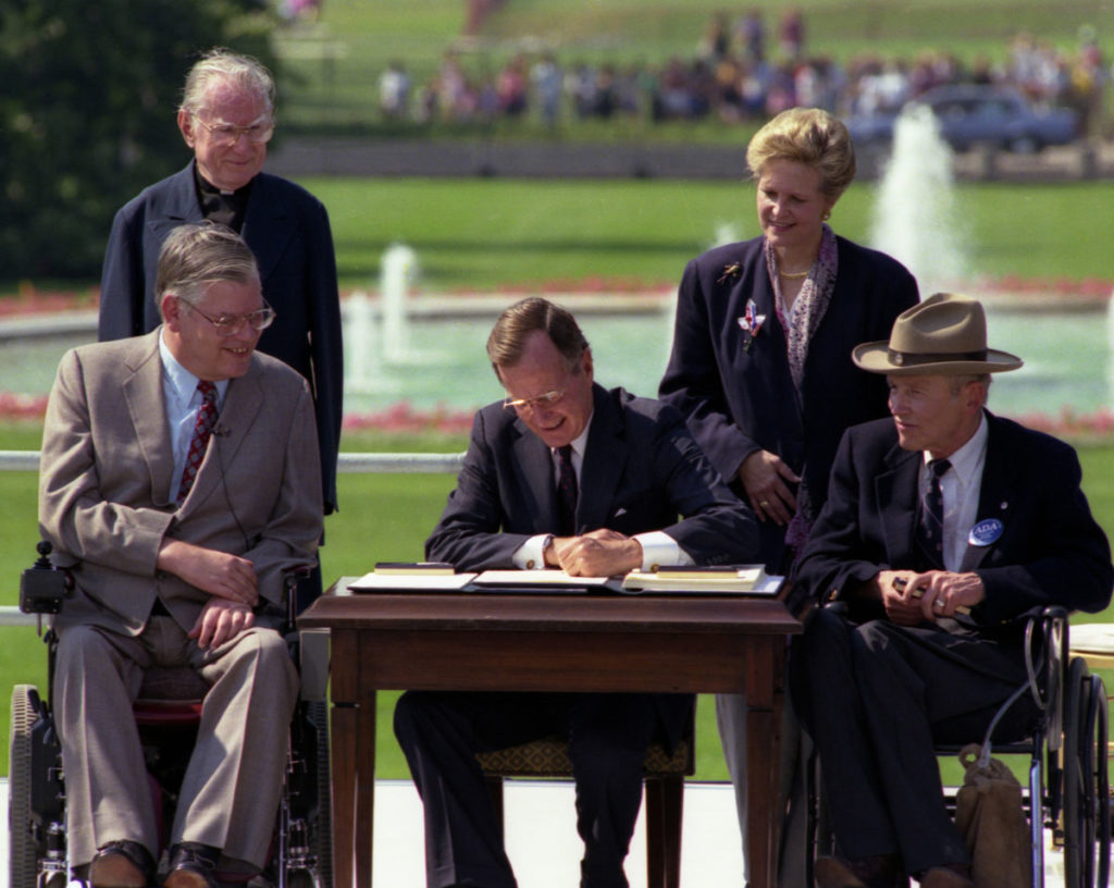 President Bush Signing the Americans With Disabilities Act, July 26, 1990.
